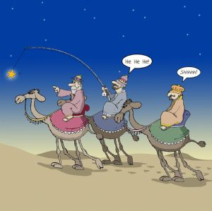 CANX24  Funny Xmas Card Three Wise Men